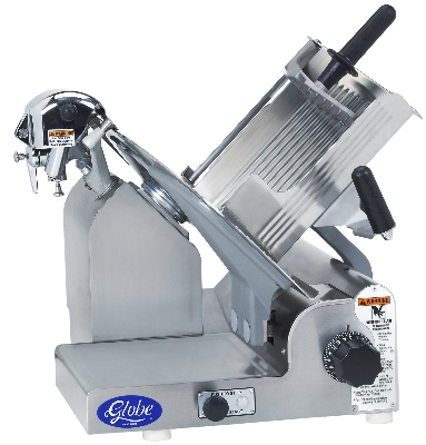 Globe 3600P Manual Slicer, 13 in dia, PreciseEdge Knife, Antimicrobial, SS