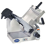 "Globe 4600N Premium Slicer - Manual, Gear Driven System, 13"" Steel Alloy Knife Blade, Stainless Steel"