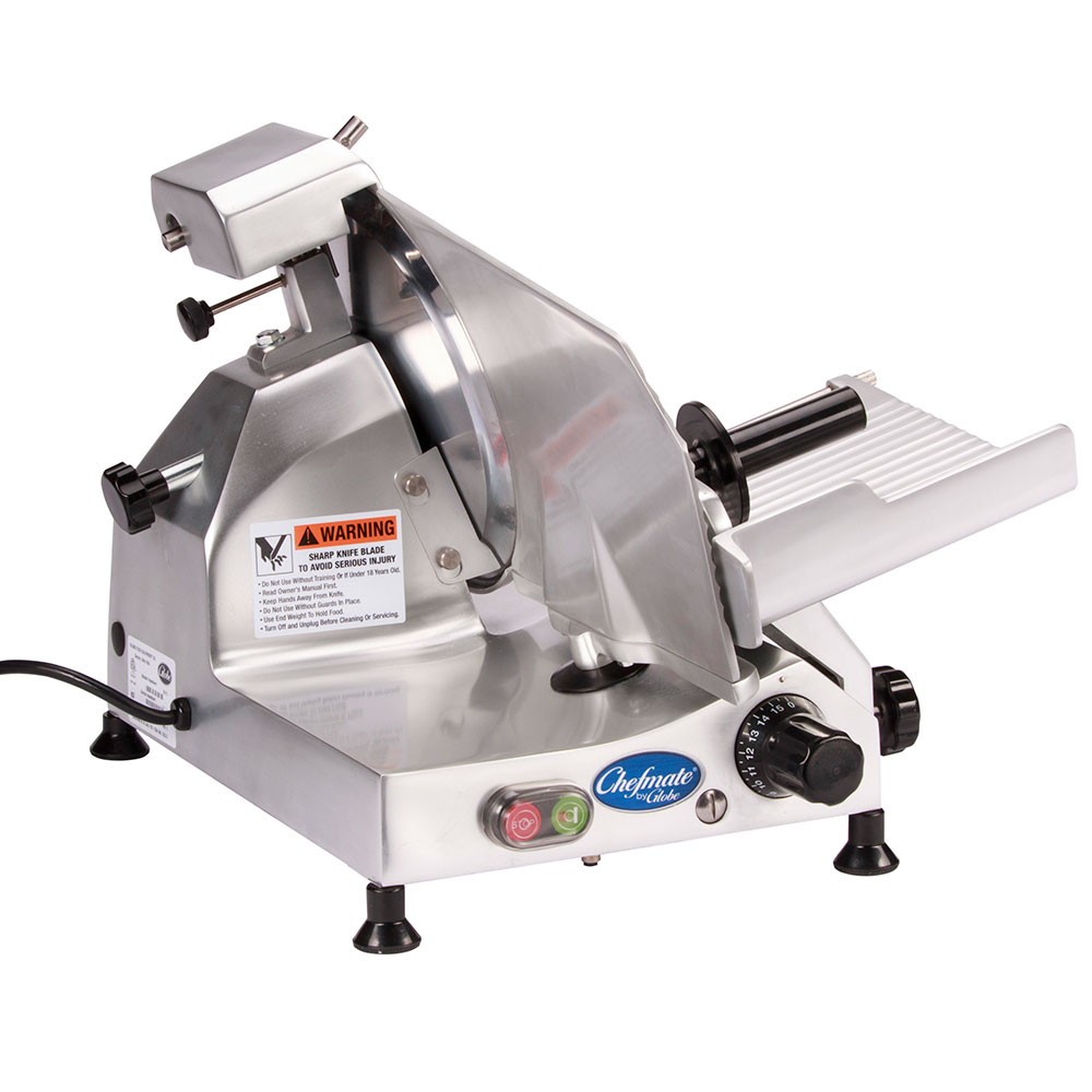 Globe C10 Chefmate Manual Slicer, 10 in Knife, 1/4 HP, 0-9/16 in Slice