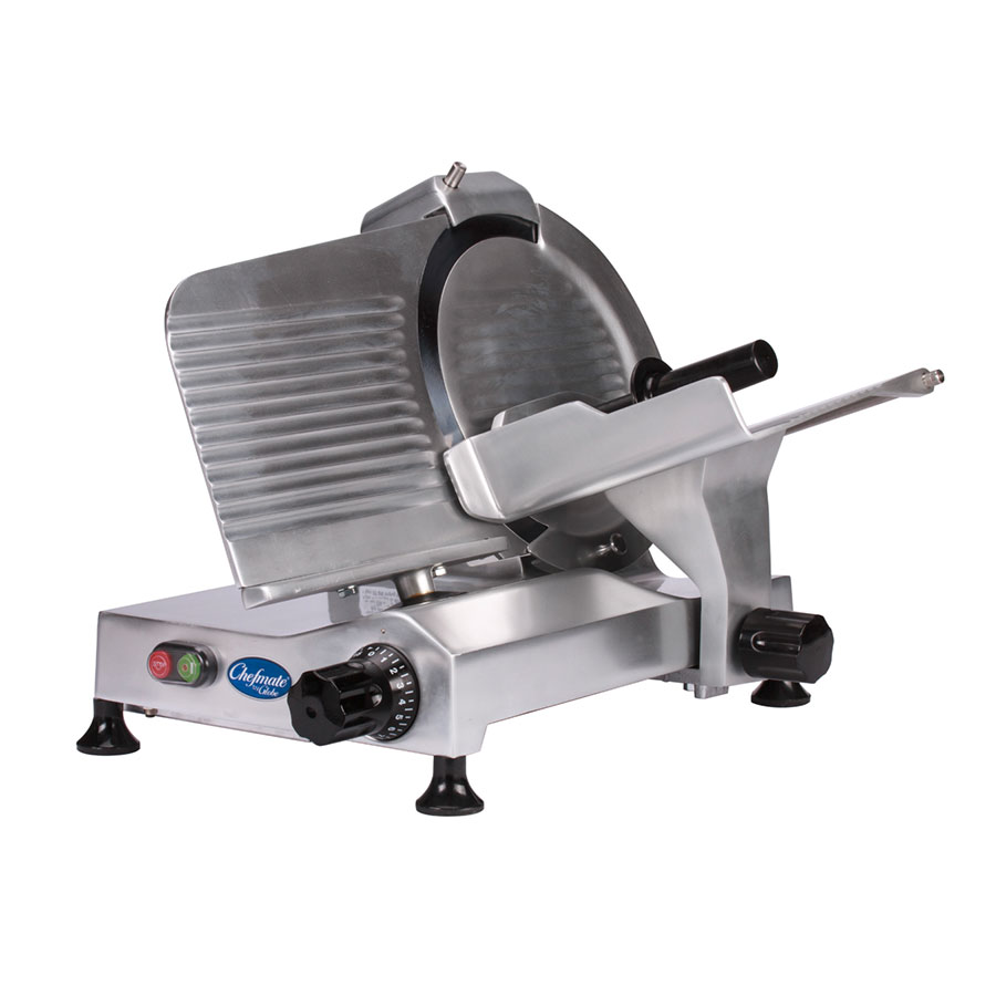 "Globe C12 12"" Manual Food Slicer w/ Knife Sharpener, Aluminum, 115v"