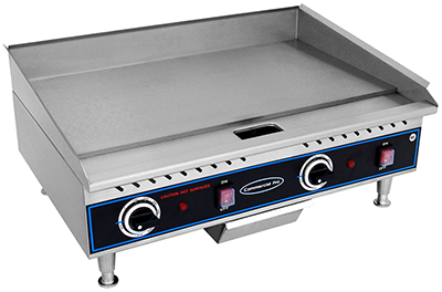 Globe PG24E 24-in Griddle w/ 3/8-in Stainless Plate Manual Controls 208/240 V Restaurant Supply