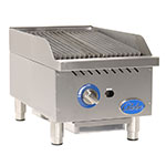 "Globe GCB15G-SR 15"" Countertop Gas Charbroiler w/ Cast-Iron Grates, Radiant"