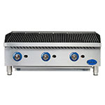 """Globe GCB36G-CR 36"""" Countertop Gas Charbroiler w/ Reversible Grates, Radiant, Stainless"""