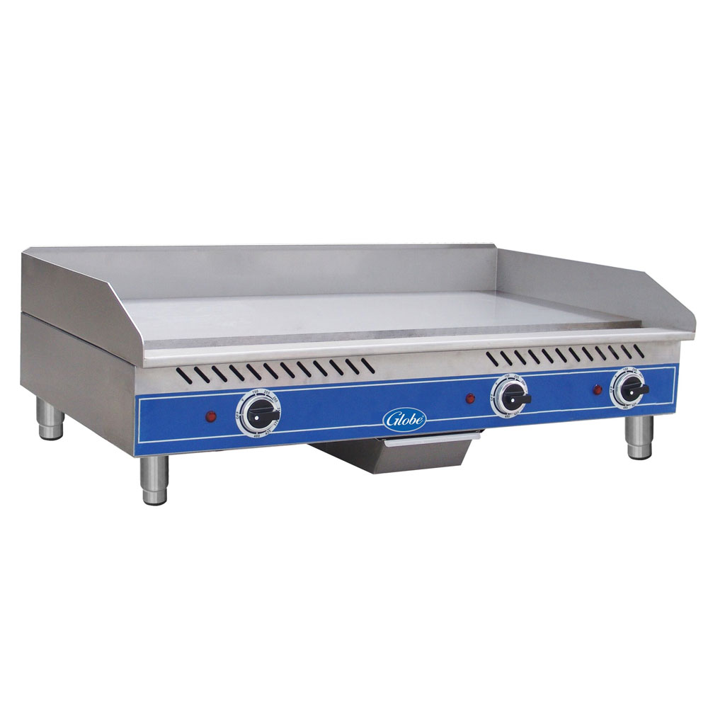 "Globe GEG36 36"" Electric Griddle - Thermostatic, 1/2"" Steel Plate, 240v/1ph"