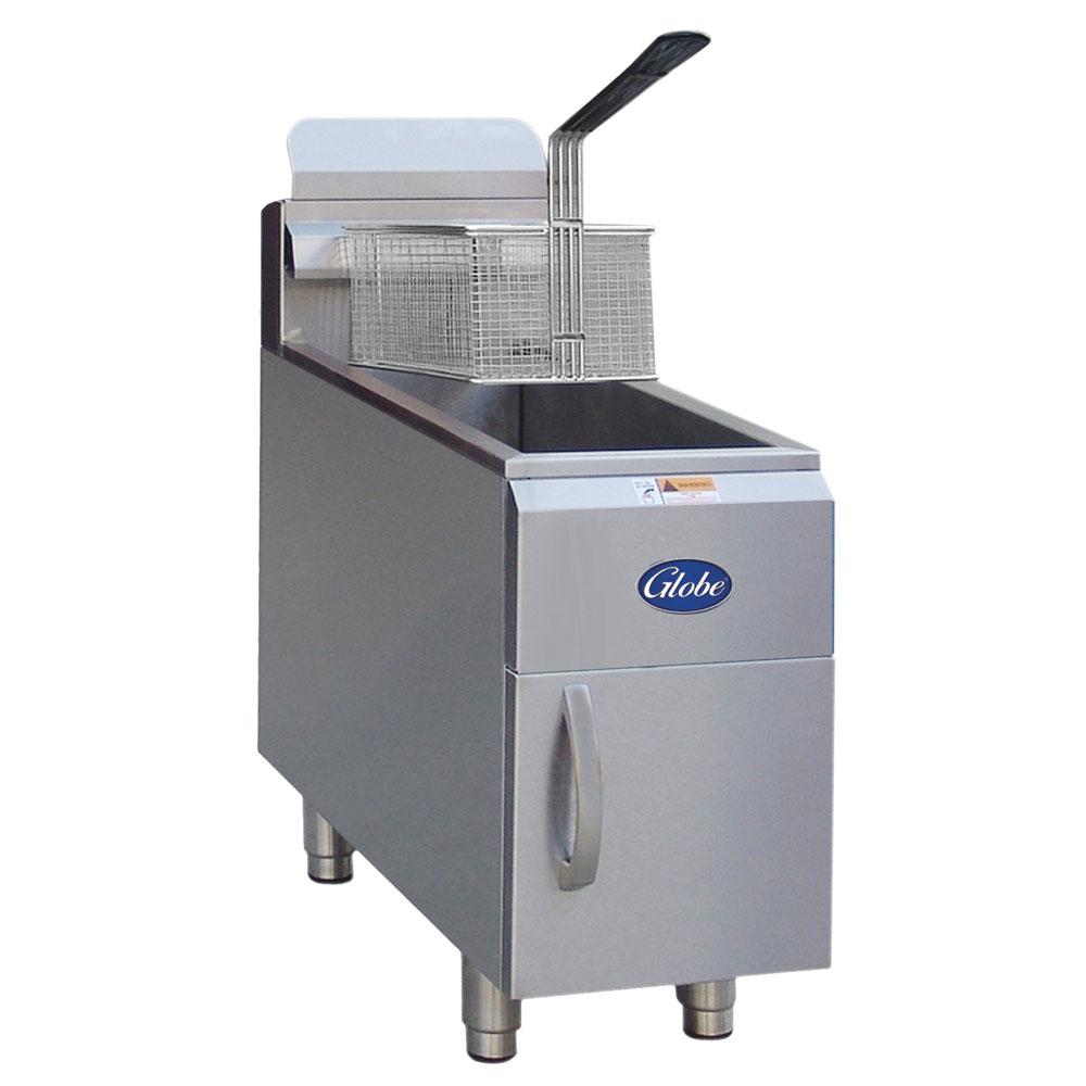 Globe GF15G NG Countertop Gas Fryer - (1) 15-lb Vat, NG
