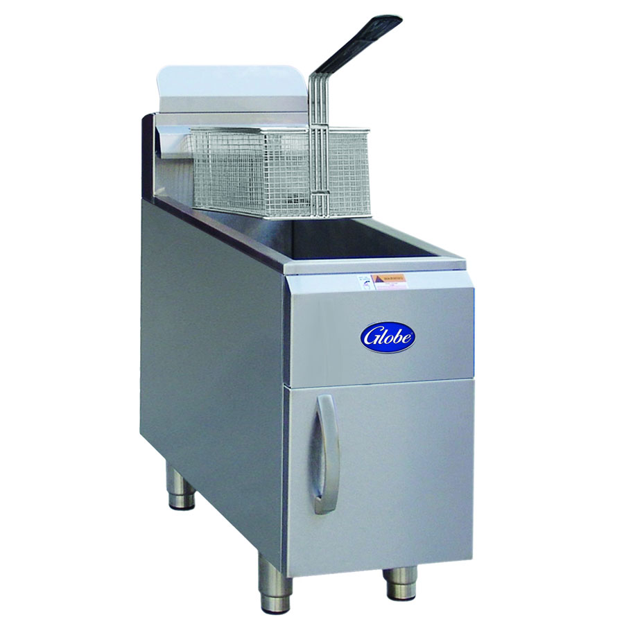 Globe GF15PG LP Countertop Gas Fryer - (1) 15-lb Vat, LP