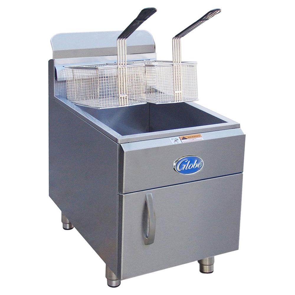 Globe GF30G NG Countertop Gas Fryer - (1) 30-lb Vat, NG