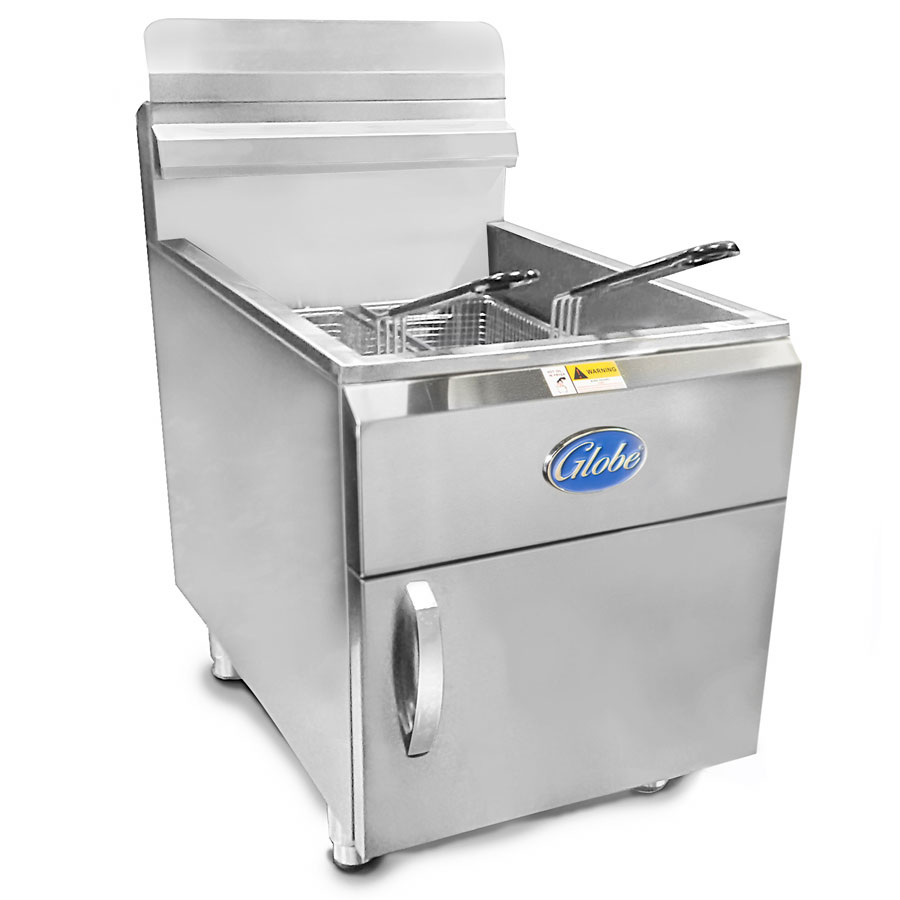 Globe GF30PG Countertop Gas Fryer - (1) 30-lb Vat, LP
