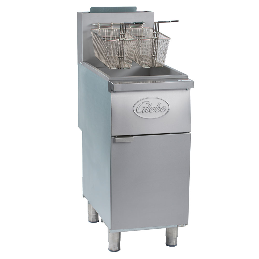 Globe GFF35G Gas Fryer - (1) 35-lb Vat, Floor Model, NG