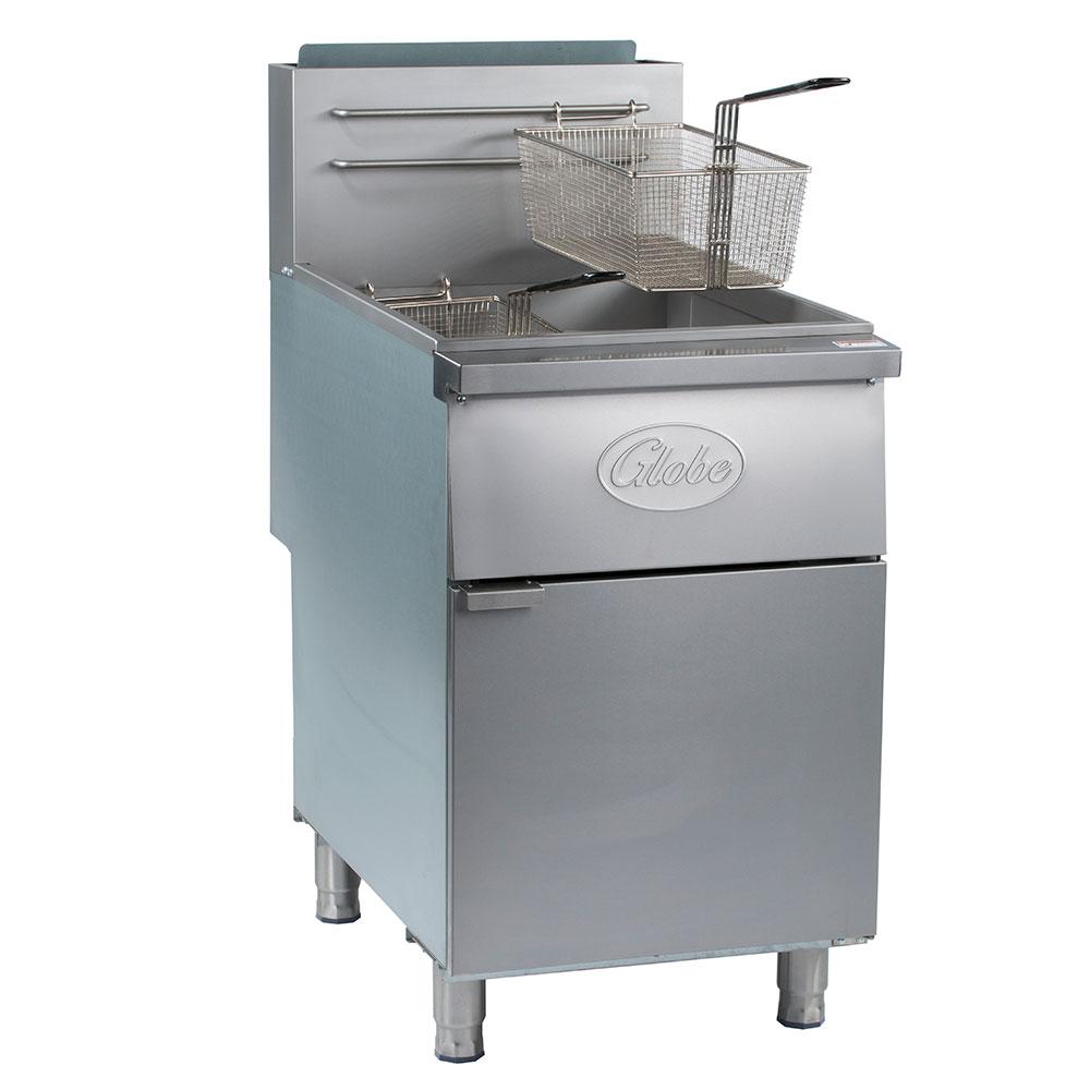 Globe GFF80G Gas Fryer - (1) 80-lb Vat, Floor Model, NG