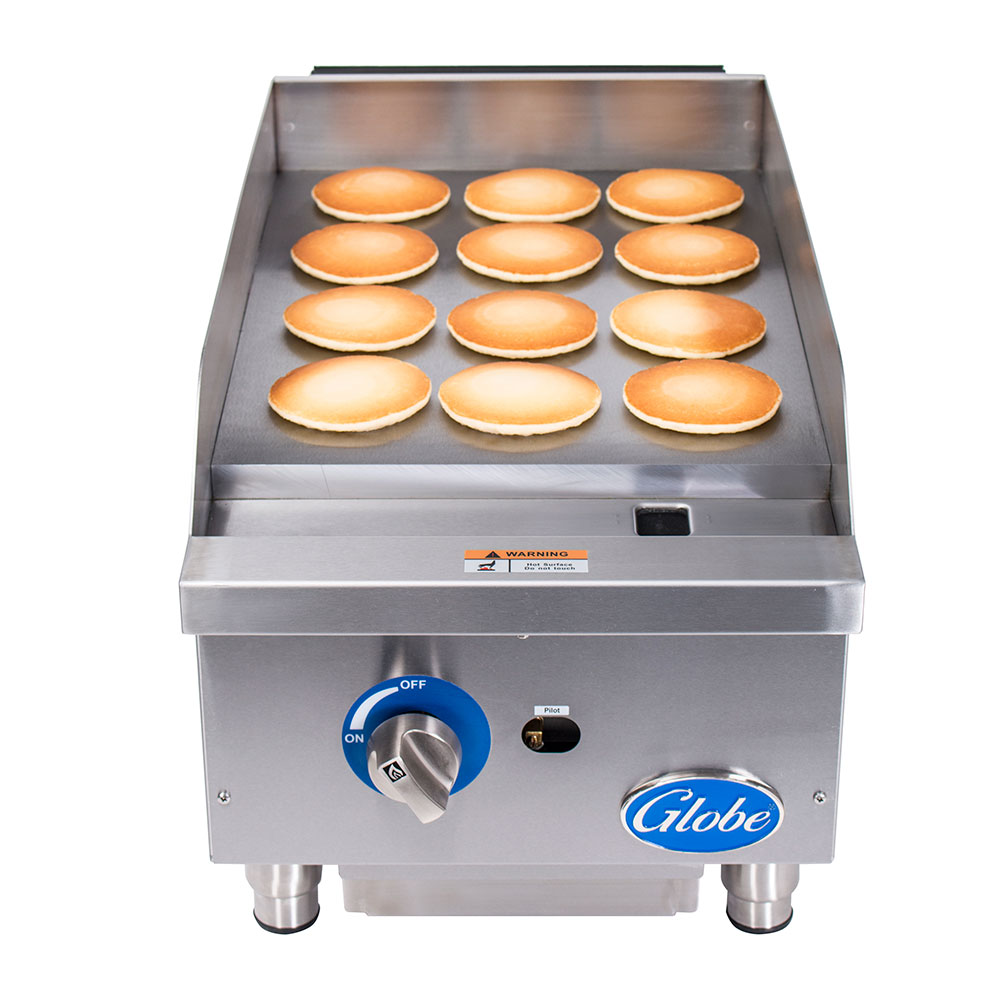 """Globe GG15G 15"""" Gas Griddle - Manual, 1"""" Steel Plate, NG"""