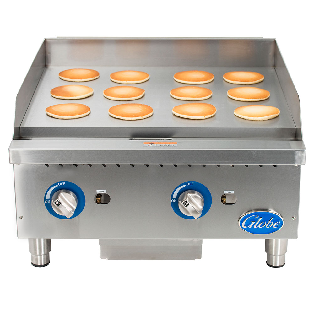 """Globe GG24G 24"""" Gas Griddle - Manual, 1"""" Steel Plate, NG"""