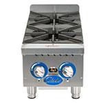 "Globe GHP12G 12"" Gas Hot Plate w/ (2) Burners & Manual Controls, NG"