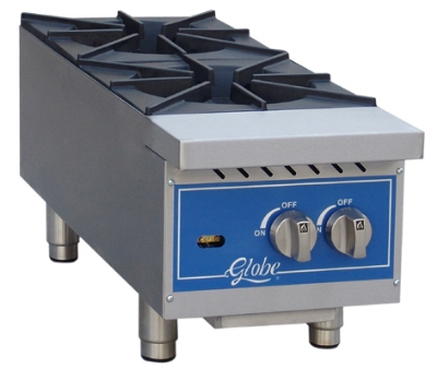 Globe GHP24G 24-in Hot Plate w/ 4-Burners, NG/LP