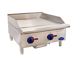 Globe C24GG 24-in Gas Griddle w/ Manual Controls, Polished Plate, Adjustable Legs, Stainless