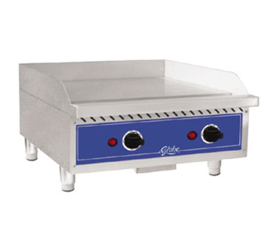"Globe GEG24 208240 36"" Electric Griddle - Thermostatic, 1/2"" Steel Plate, 240v/1ph"