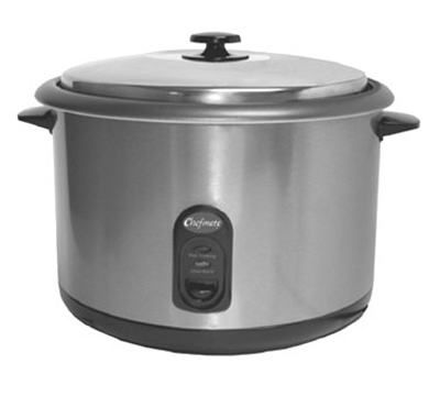 Globe RC1 Countertop Rice Cooker w/ Built-In Thermostat, (25) 1-Cup Servings, 120 V