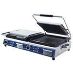 Globe GPGDUE14D Double Commercial Panini Press w/ Cast Iron Grooved Plates, 208-240v/1ph