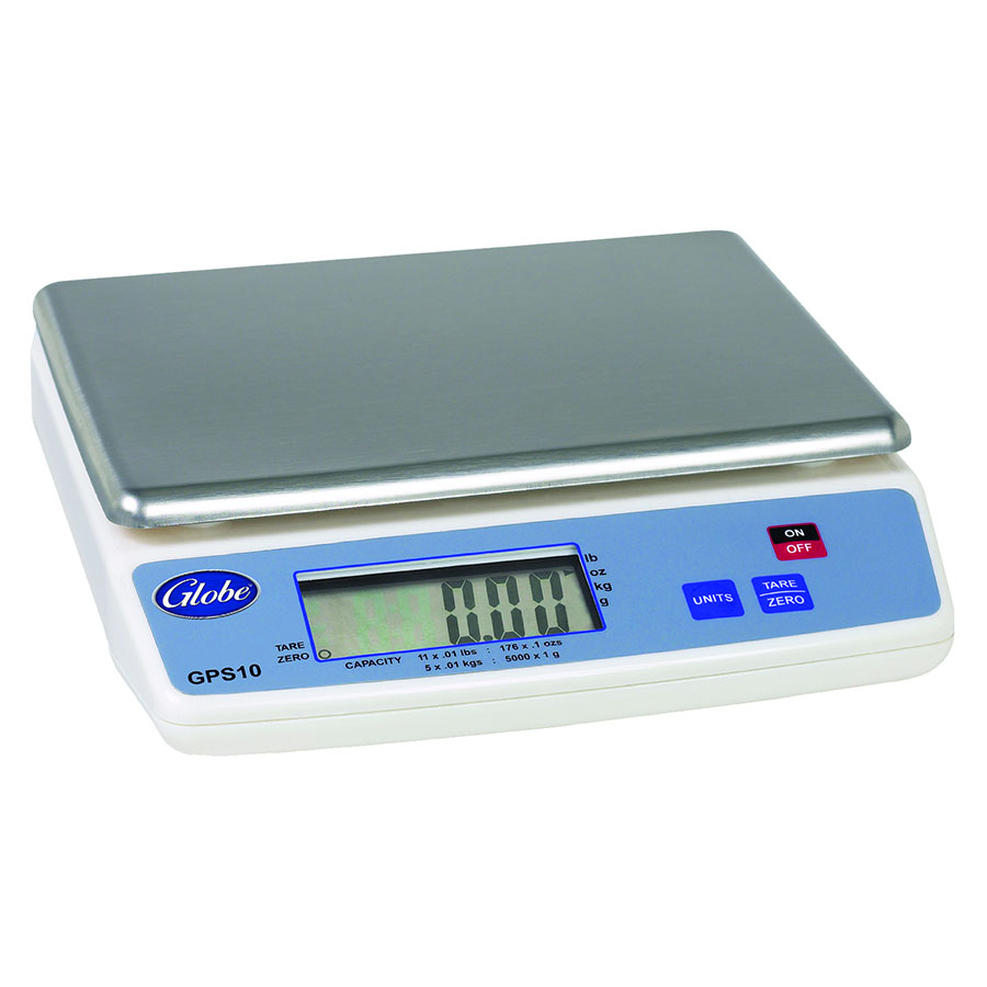 Globe GPS10-4 Portion Control Scales w/ Auto Power Shut Off, 11-lb Capacity