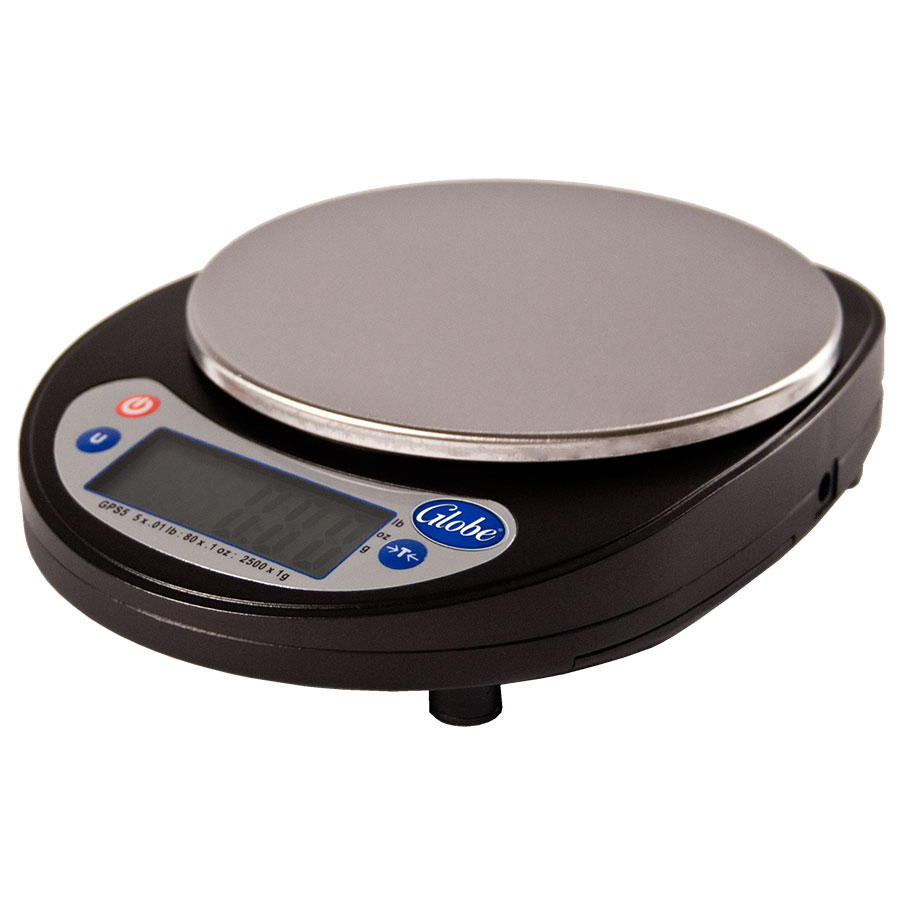 Globe GPS5-4 4-Pack Compact Portion Control Scale w/ 5-lb Capacity & LCD Digital Display