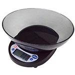 Globe GPS5 Compact Portion Control Scale w/ Ingredient Bowl, Wireless, 5-lb