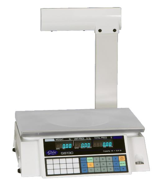 Globe GS130T Electronic Price Computing Scale w/ Display Tower, 30 lb x .01