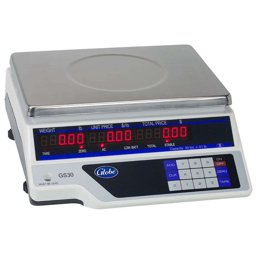 Globe GS30 30-lb Price Computing Scale - Auto Shut-Off, 115v