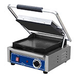Globe GSG10 Commercial Panini Press w/ Cast Iron Smooth Plates, 120v