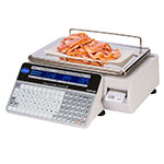 Globe GSP30B 30-lb Price Computing Label Printing Scale - Front & Back Display, 115v