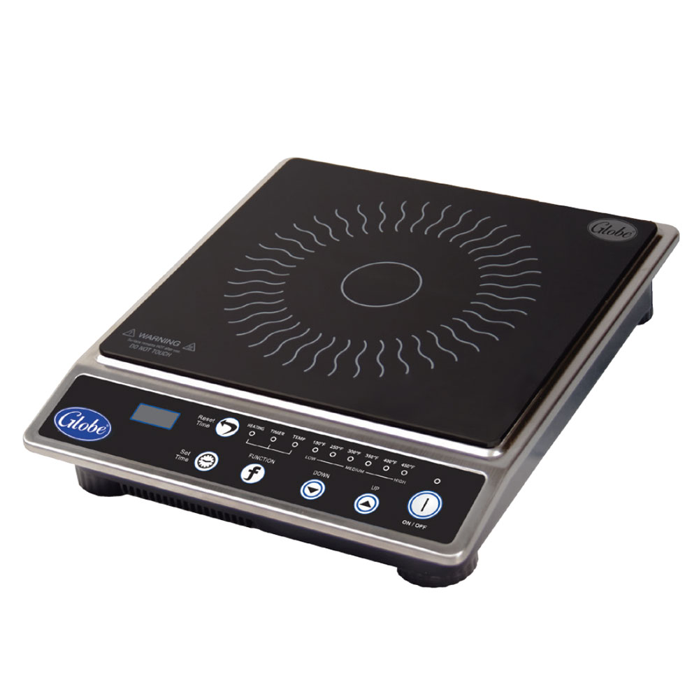 Globe IR1800 Countertop Commercial Induction Cooktop w/ (1) Burner, 120v