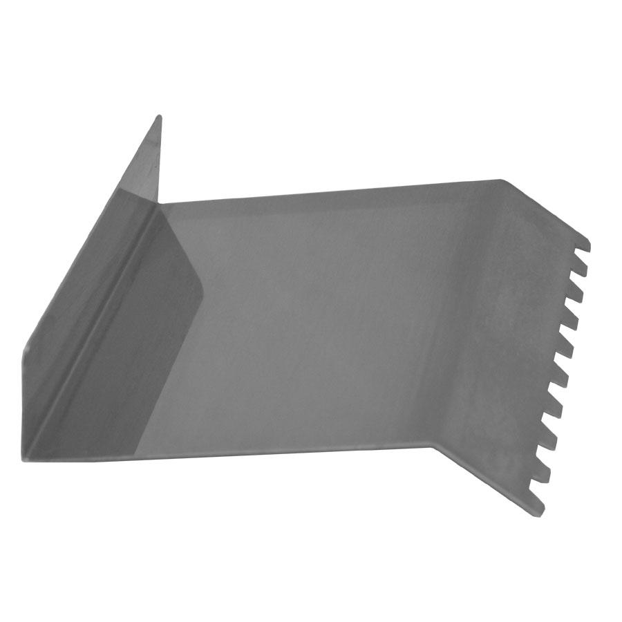 "Globe PANINI-SCRAPER 4.75"" Metal Panini Scraper w/ Grooved Pattern"