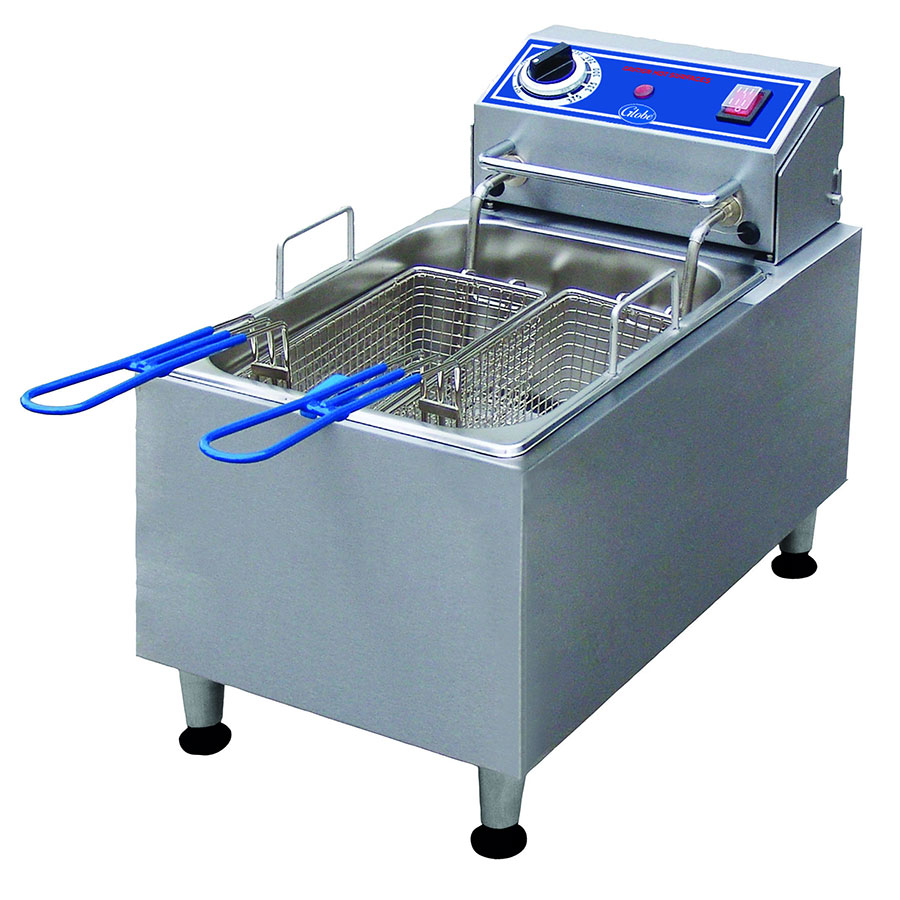 Globe PF10E Countertop Electric Fryer - (1) 10-lb Vat, 120v