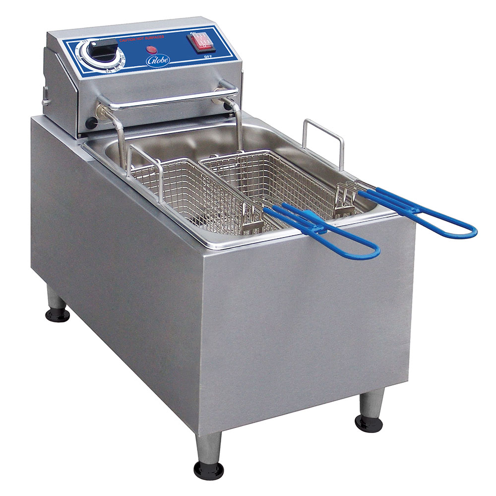 Globe PF16E Countertop Electric Fryer - (1) 16-lb Vat, 240v/1ph