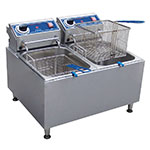 Globe PF32E Countertop Electric Fryer - (2) 16-lb Vat, 208v/1ph