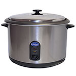 Globe RC1 Countertop Rice Cooker w/ Built-In Thermostat, (25) 1-Cup Servings, 120v