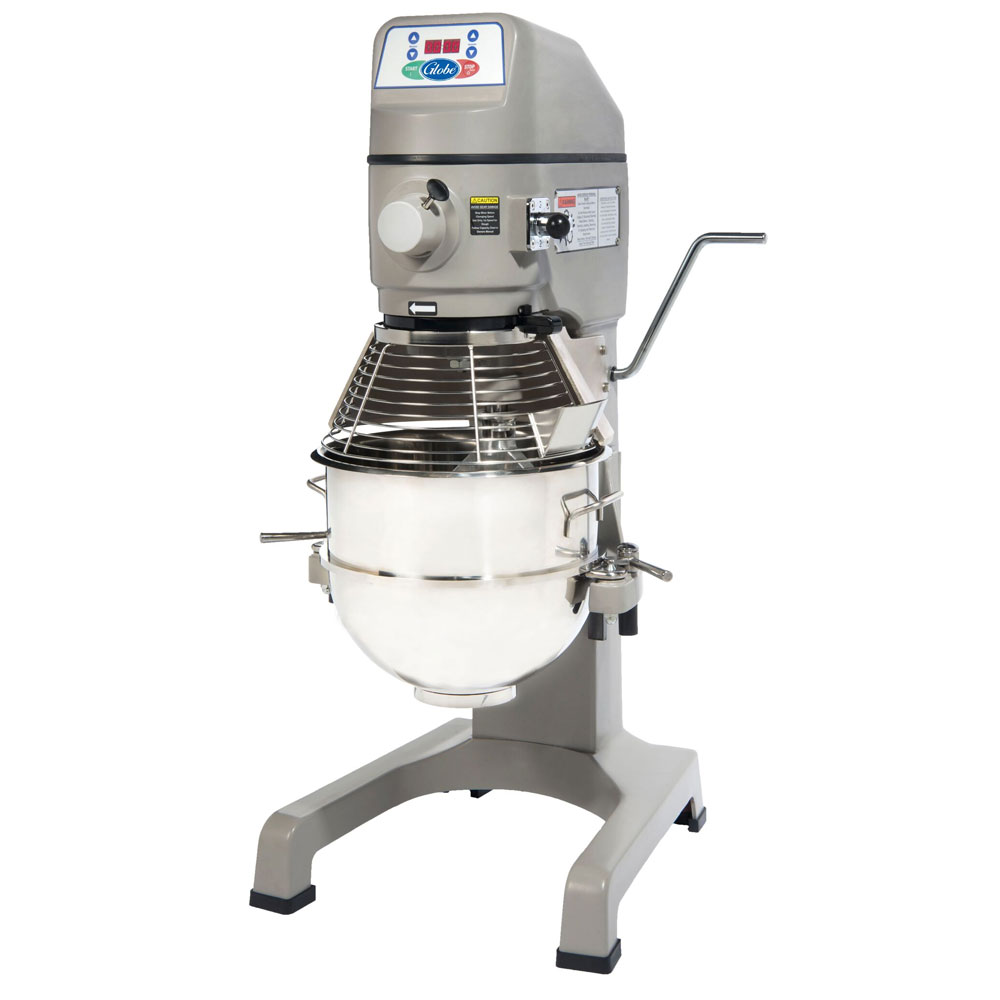 Globe SP30 30-Qt Mixer w/ Bowl, Flat Beater, Wire Whip, Spiral Dough Hook