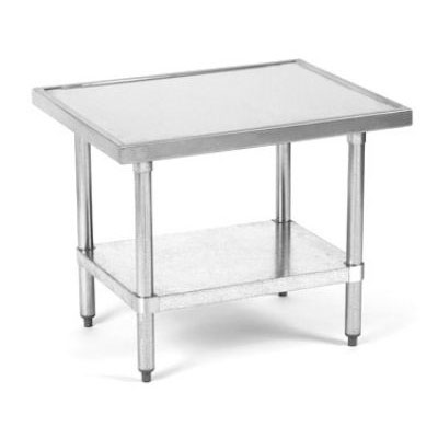 Globe XTABLE Mixer Table, SS Top, Galvanized Legs & Undershelf, 30 W x 24 D, 24 in H