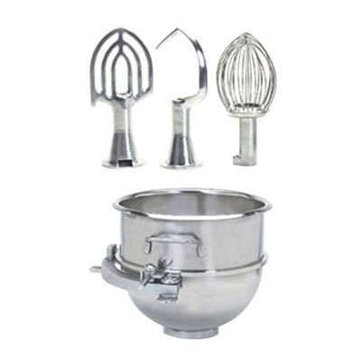 Globe XXACC40-80 Adapter Kit w/ 40-qt Bowl, Hook, Whip, Beater, & Adapter Ring for SP80PL Mixer