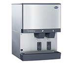Follett 110CM-NI-S Countertop Cube Ice Dispenser w/ 110-lb Storage - Cup Fill, 115v