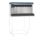 Follett VU155B10LL Countertop Nugget Ice Dispenser w/ Drink Rail & 150-lb Storage - Cup Fill, 115v