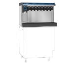 Follett VU155B8RL Countertop Nugget Ice Dispenser w/ Drink Rail & 150-lb Storage - Cup Fill, 115v