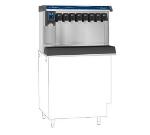 FOLLETT VU155M8RP Countertop Nugget Ice Dispenser w/ Drink Rail & 150-lb Storage - Cup Fill, 115v