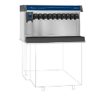 Follett VU300B10RP Countertop Nugget Ice Dispenser w/ Drink Rail & 300-lb Storage - Cup Fill, 115v