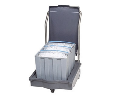 Follett SMARTCART75 21.5-in Insulated Ice Cart w/ 75-lb Capacity, 3-Totes
