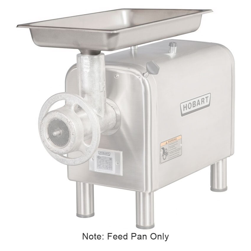 Hobart 22PAN-SSTFS Rectangular Pan, 33 x 15.75 x 3.75-in, For Funnel Cylindrical Throat Chop End