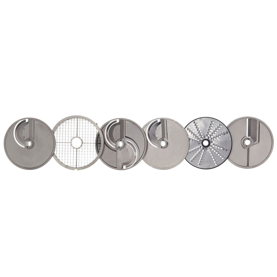 Hobart 3PLATE-6PACK-SSP 6-Plate Pack For FP400 Food Processors w/ Wall Rack