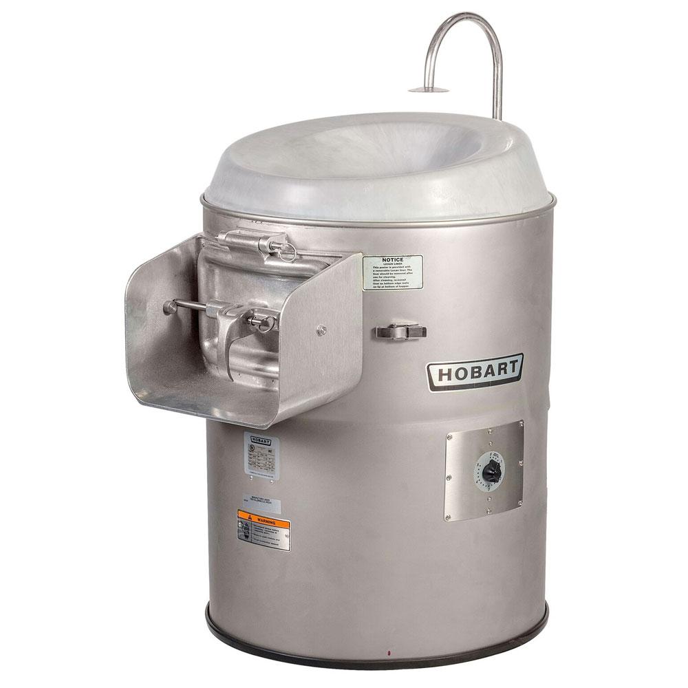 Hobart 6460-2 Vegetable Peeler w/ 50-60-lb Potato Capacity, Stainless, 230/3 V