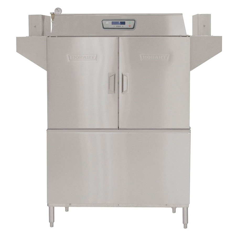 Hobart CL44E-23 Left To Right 30-kW Booster Conveyor Dishwasher, 202-Rack/Hr, 480/3 V