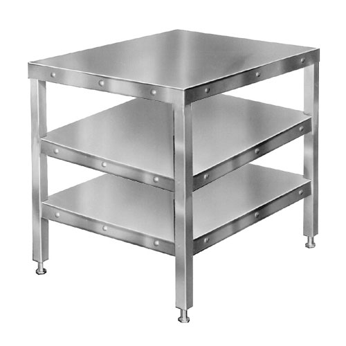 """Hobart CUTTER-TABLE4 Table 205026-Model w/ Feet & 2-Shelves for Food Cutters 27x32"""""""