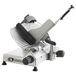 "Hobart EDGE-12 Manual Medium Duty Slicer w/ 12"" Knife & Top Mount Sharpener, Aluminum Finish"